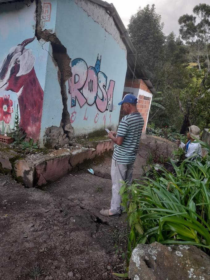 En peligro inminente 26 familias de Capitanejo