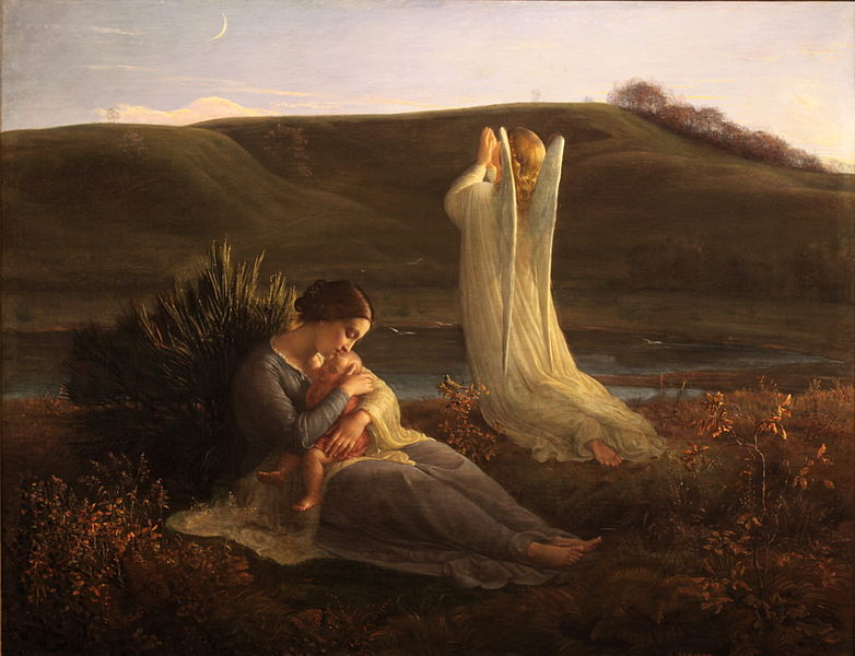 Louis Janmot - Poem of the Soul - The Angel and the Mother