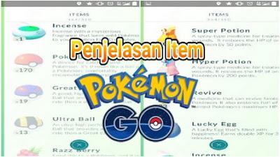 atau barang yang bisa dipakai untuk menunjang permainan di Pokemon Go Penjelasan Item di Pokemon Go