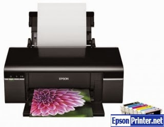Reset Epson T40W inkjet printer by tool