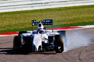 Valterri Bottas, Williams FW36 Mercedes, locks up