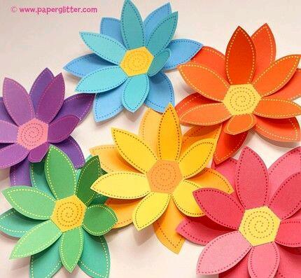 Ideas Con Flores Para Tu Fiesta Usando Papel O Cartulina