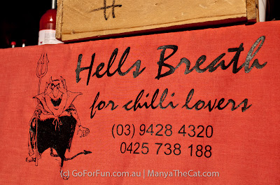 Hell's breath. Spicy sauces. - Geelong Friday Market, Victoria, Australia - Go For Fun - Australian Travel and Activity Community. Inspire, Share, Enjoy!