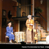 Patricia Hoffman and Joanne Westervelt in THE ROYAL FAMILY (R) - December 2011.  Property of The Schenectady Civic Players Theater Archive.