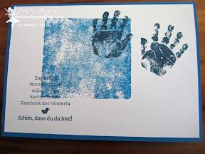 stampin up baby prints babyglück viel-schichtig