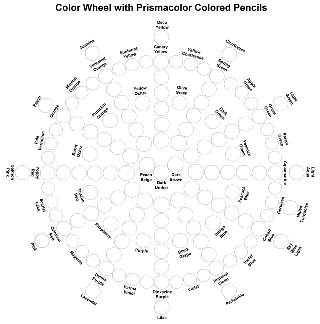 photo relating to Printable Prismacolor Color Chart called The Feisty Quilter: Coloured Pencil Fundamentals