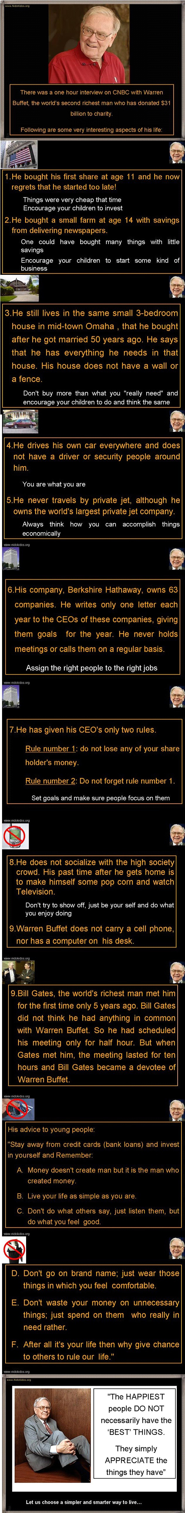 Simple Life Lessons From Warren Buffet The 2nd Richest Man In The World