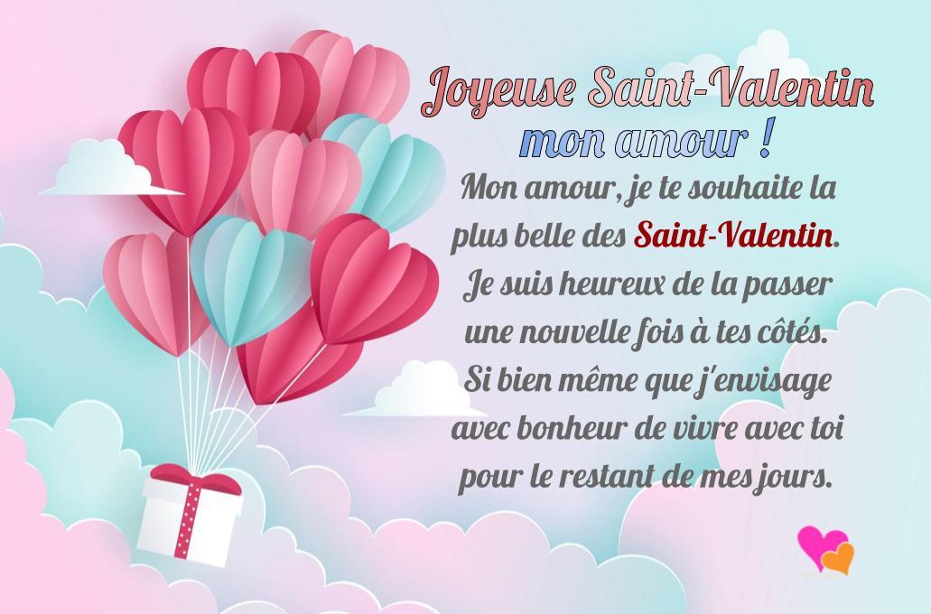 SMS joyeuse Saint-Valentin mon amour