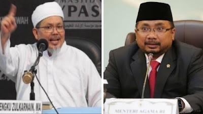 Foto Tengku Zulkarnain (kiri) dan Yaqut Cholil Qoumas (kanan). Tengku Zulkarnain Sentil Menag Yaqut.