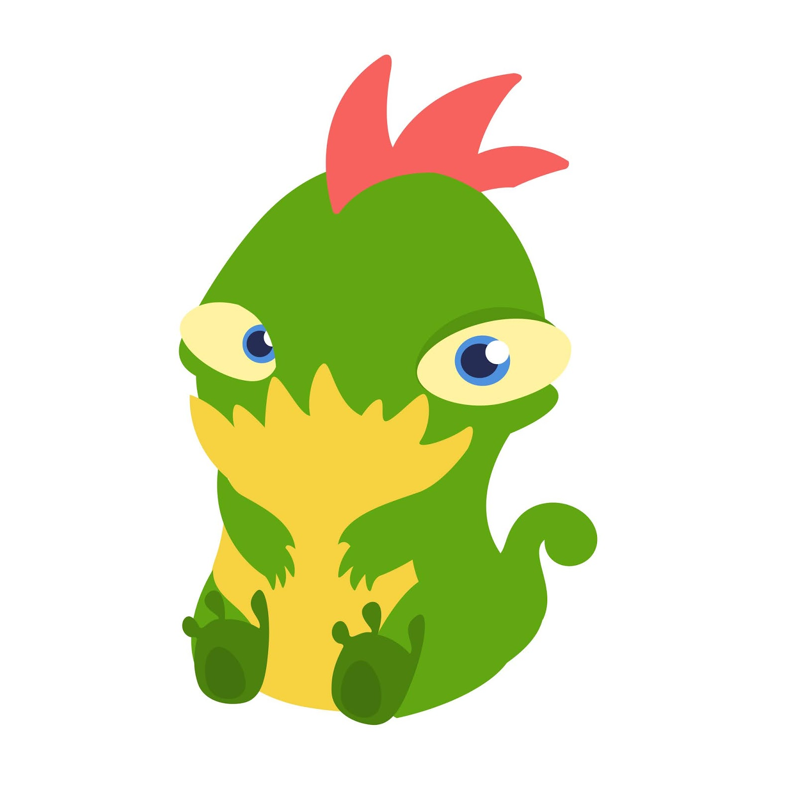 Cute Cartoon Tiny Monster Illustration Free Download Vector CDR, AI, EPS and PNG Formats