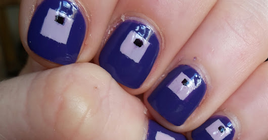 40 great nail art ideas- violet and geometric