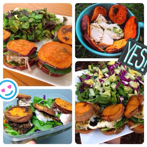 Sweet Potato Salmon Sliders (Gluten Free, Vegan Option)