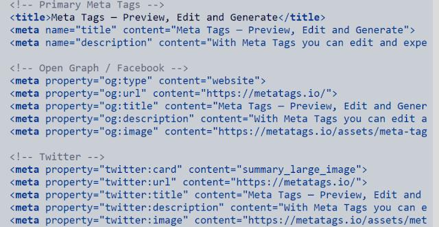 All Meta Tags in 2021