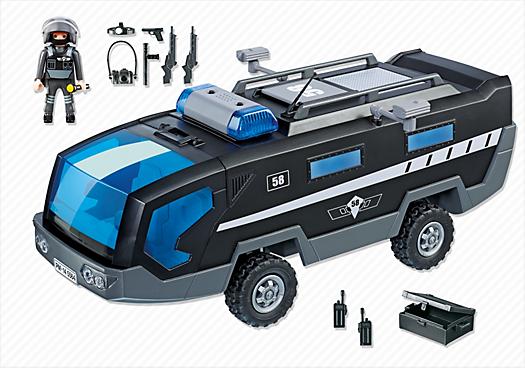 Contenido real de Playmobil® 5564 Camión Unidad Especial de Policía