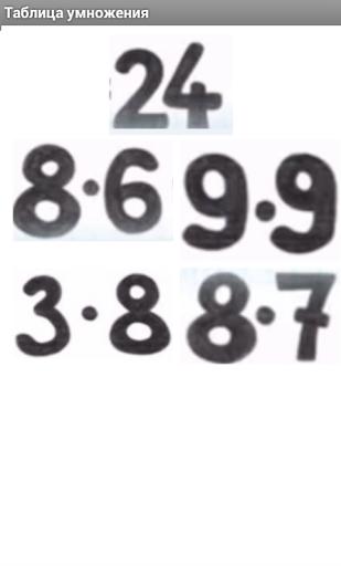Таблица умножения тренажер