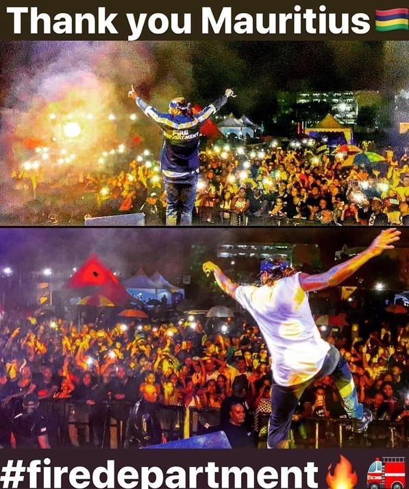 Rudeboy Excites The Crowd In Mauritius with his performance