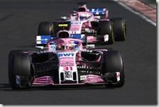 Le due Force India nel gran premio d'Ungheria