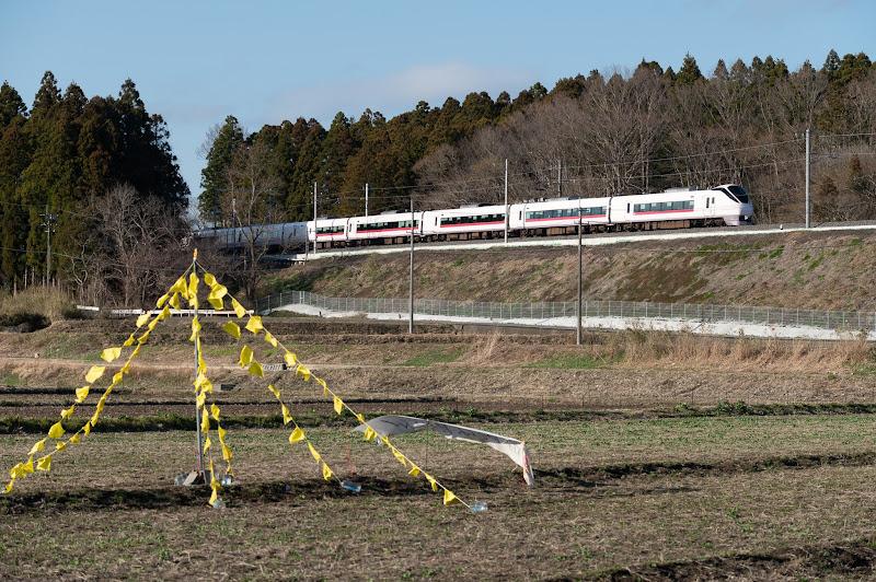 富岡の黄色いハンカチとひたち13号