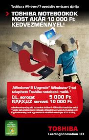 Toshiba reklám plakát tervezés.