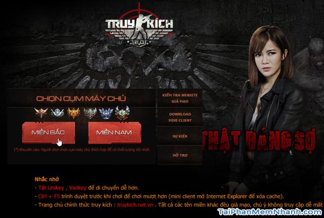 đăng ký thành công nick game truy kích