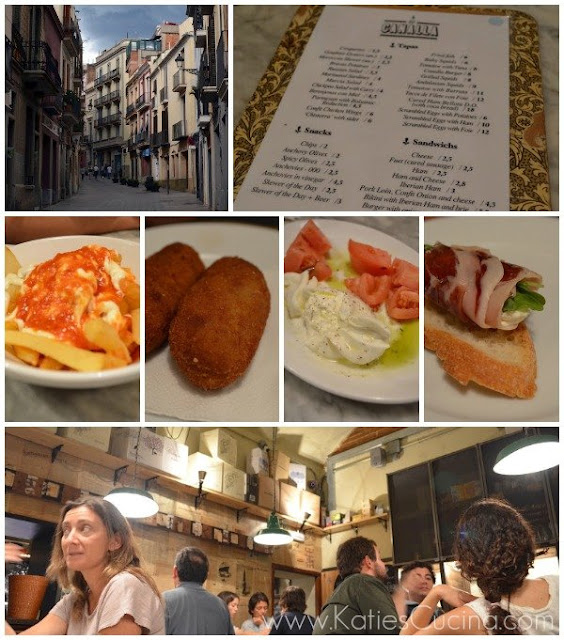 Lunch at Canalla in Barcelona Spain