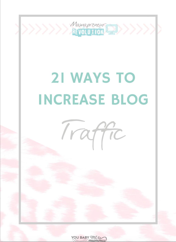 21 ways to increase blog traffic