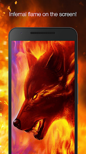 Fiery wolf live wallpaper - náhled