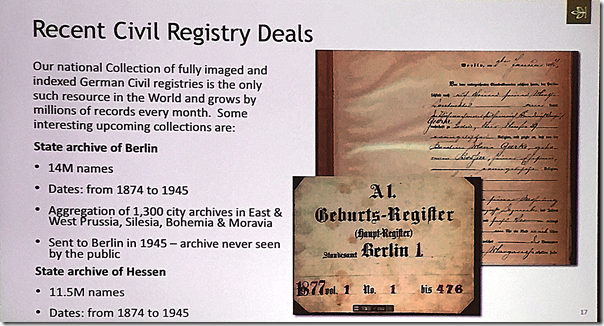 Recent German civil registry deals at Ancestry