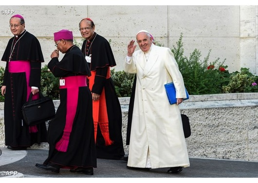 Francis synod smile