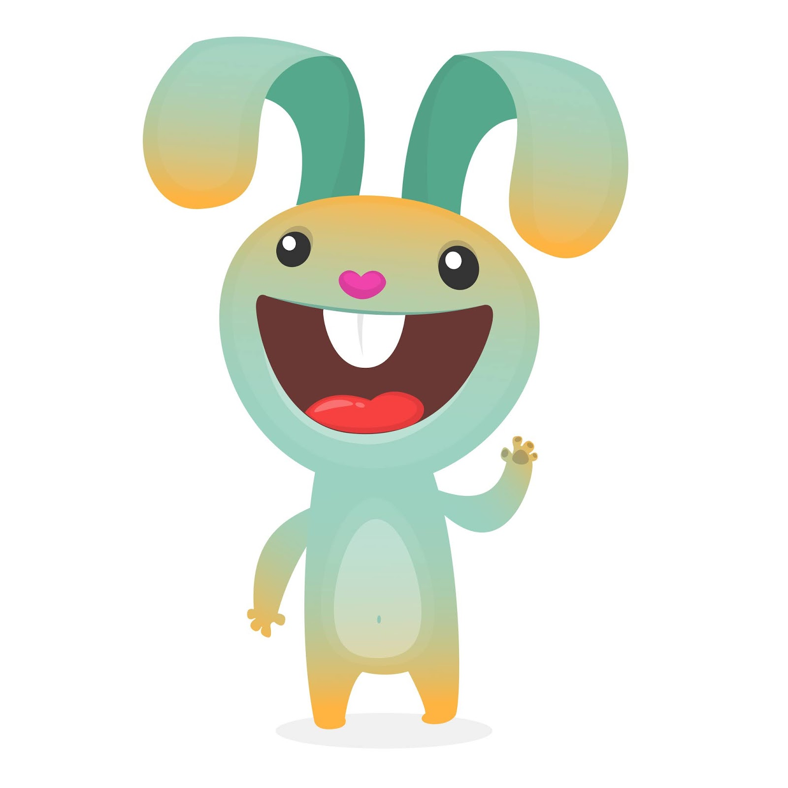Cute Bunny Rabbit Cartoon Free Download Vector CDR, AI, EPS and PNG Formats