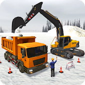 Snow Excavator Machine - Construction Crane 2019 Android APK Download Free By Futuristic Game Studio