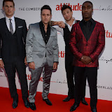WWW.ENTSIMAGES.COM -  BLUE THE BAND - Lee Ryan, Anthony Costa, Duncan James and Simon Webbe  at  Attitude Magazine's World's Sexiest Men 2013 - summer party Takes place in The Carbon bar. The Cumberland Hotel,  London July 18th 2013                                                   Photo Mobis Photos/OIC 0203 174 1069