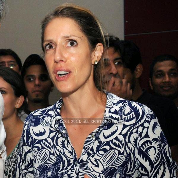 Eliese Steiner during the 2014 FIFA World Cup final screening, held at Germany embassy, in New Delhi, on July 13, 2014.