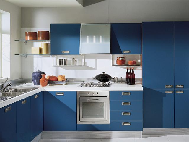 Modern Kitchen Cabinets Blue blue kitchen cabinets ~ interiors design