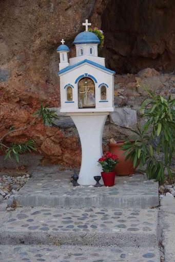 Mémorial près du port de Sougia (Σούγια).
