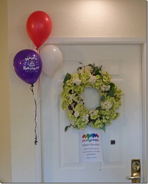 Mom and Dad's door decorated by Independent Living Facility