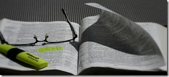 Bible and marker