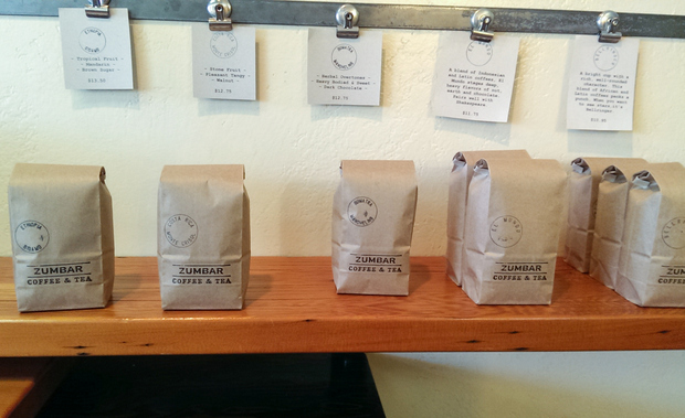 photo of bags of coffee