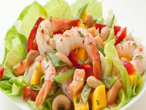 Tropical Fruit and Seafood Salad