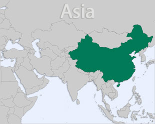 China location map