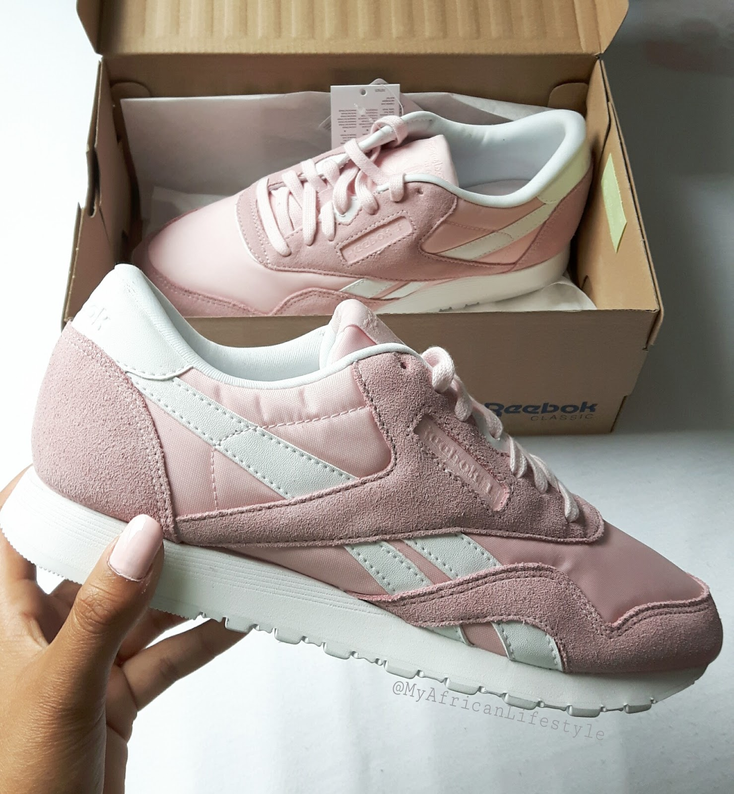 dcce67cf30169 Reebok Classic Nylon SP Pink Erfahrung Review - MyAfricanLifestyle