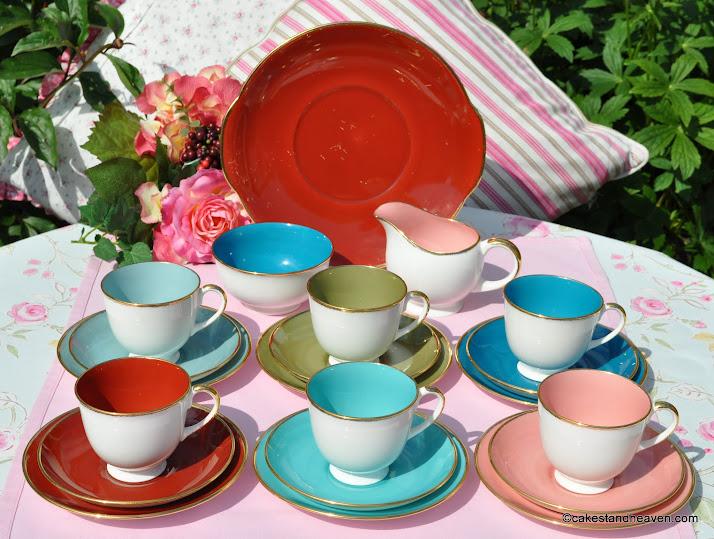 Susie Cooper Harlequin Tea Set