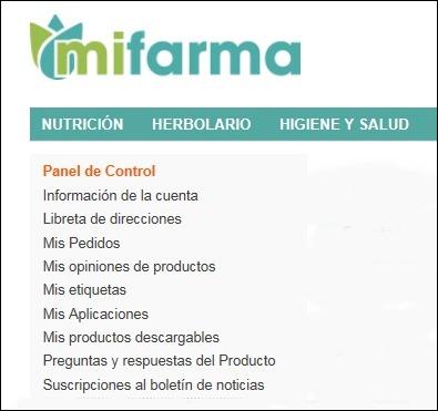 Abrir mi cuenta MiFarma - 543