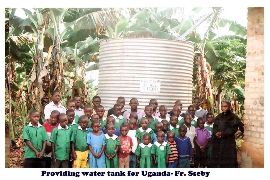 Uganda -Provided water tanks for coffee plantation- Fr  J  Ssebyala
