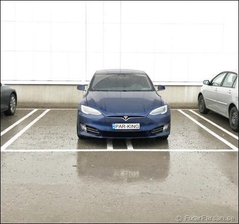 Tesla-Parkering