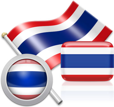 Thai flag icons pictures collection