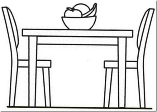 Mesa De Comedor Para Colorear | www.imagenesmy.com