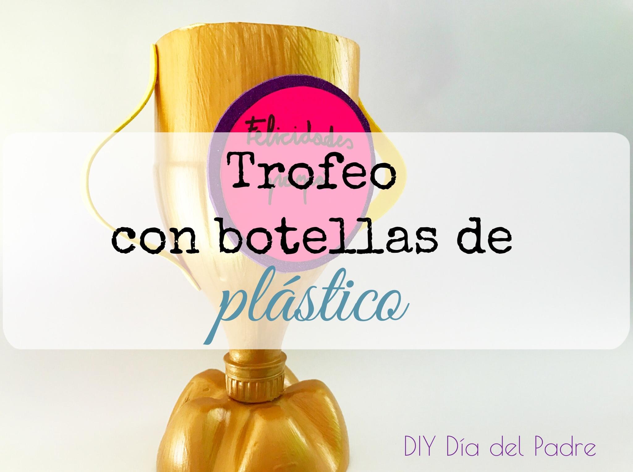 Trofeo Con Botella De Plástico Para El Día Del Padre