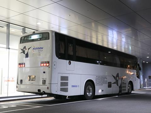 西鉄高速バス「桜島号」夜行便 4012 リア H27.09.18