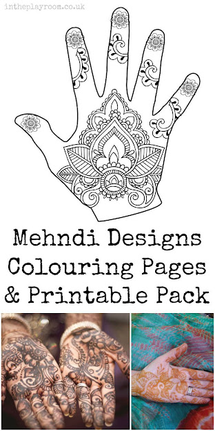 Henna Or Mehndi Designs Colouring Pages And Printable Pack For Kids